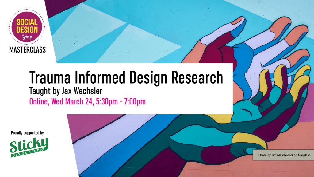 Trauma informed design research flyer