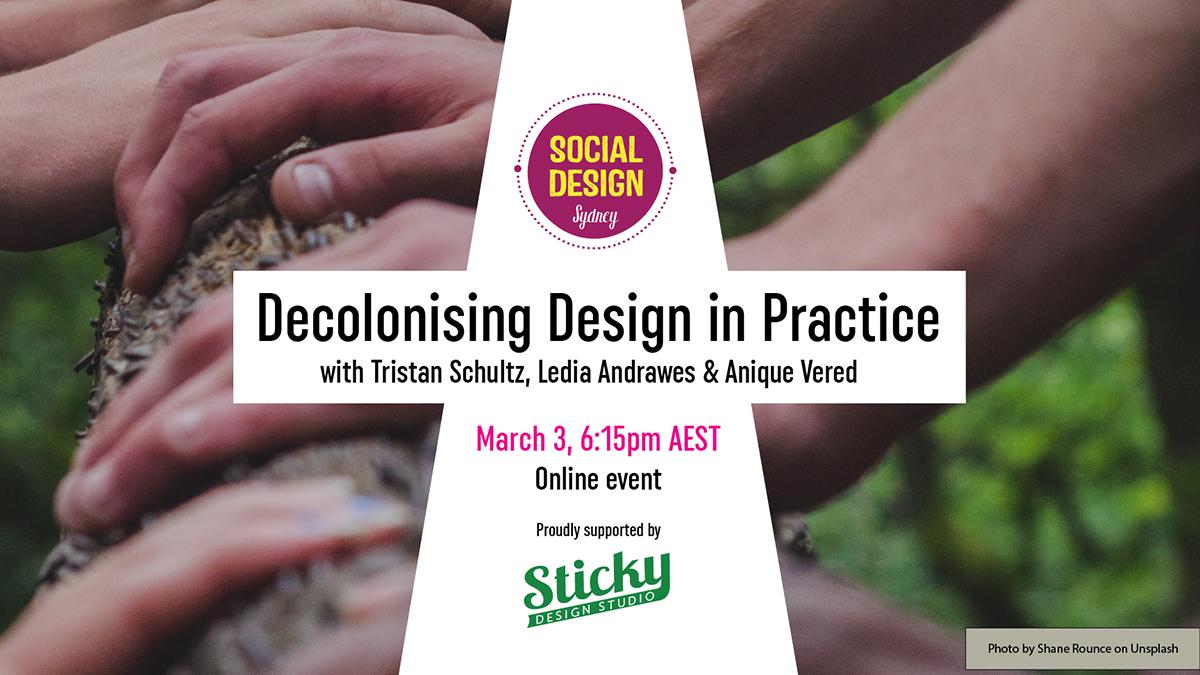Decolonising Design in Practice flyer